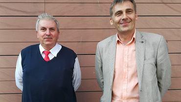 Po lewej: Grzegorz Moc, po prawej: Sławomir Centkowski