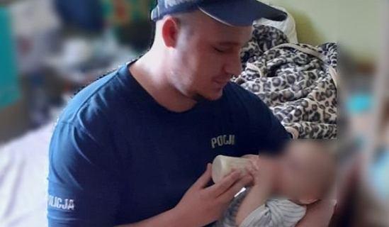 Policjanci uspokoili i nakarmili dziecko