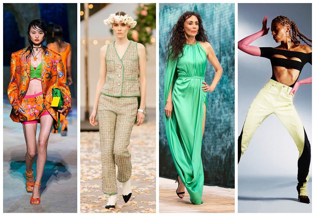 od lewej: Versace, Chanel, Ralph & Russo, Mugler