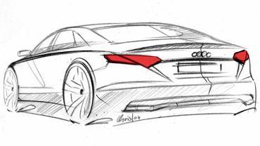 Audi A8 - szkic