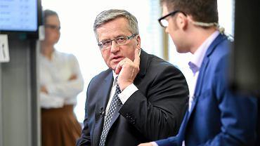 Prezydent Bronisław Komorowski w środę w redakcji portalu Gazeta.pl, gdzie odpowiadał na pytania czytelników