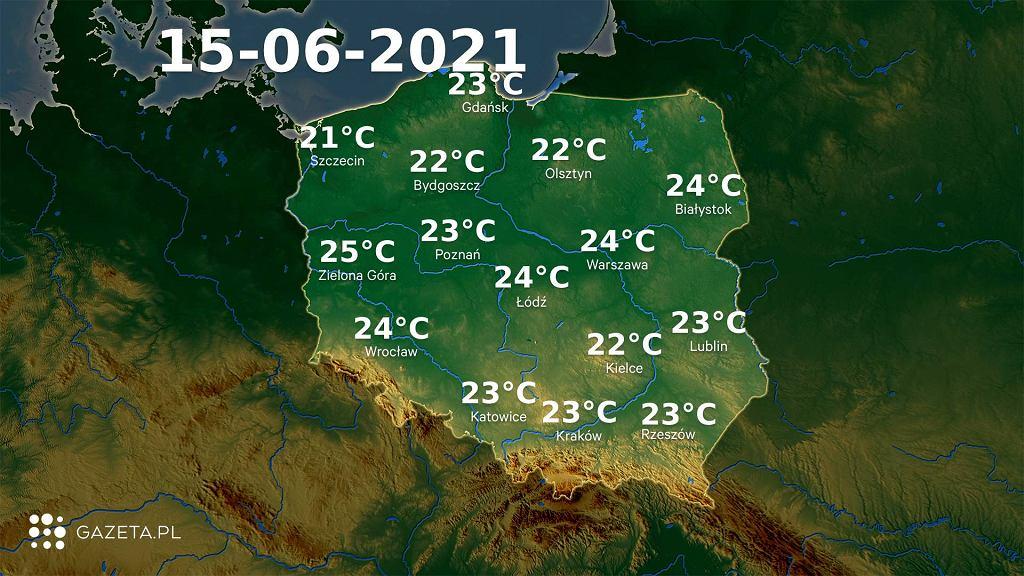 Prognoza pogody na wtorek 15 czerwca. Będzie pochmurno, ale ciepło
