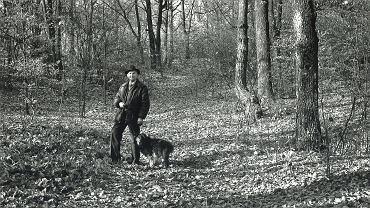 Juliusz Braun w Milechowach ok. 1985 r., fot. Jan Siudowski