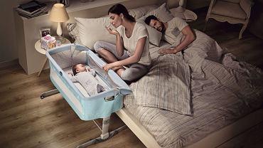 Łóżeczko dostawne umożliwia bezpieczne spanie z dzieckiem