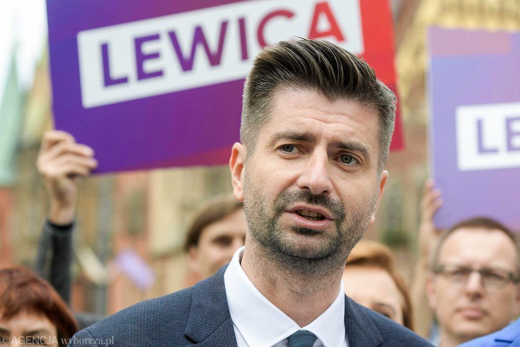 Wybory parlamentarne 2019. Krzysztof Śmiszek jedynką na liście Lewicy we Wrocławiu