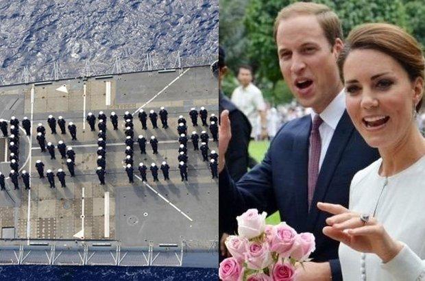 Marynarze gratulują Kate i Williamowi