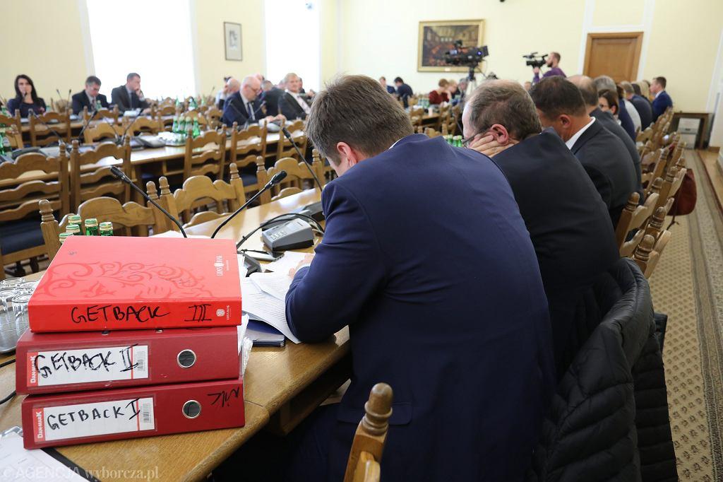Komisja Finansow Publicznych - posiedzenie dot. afery Getback. Warszawa, Sejm, 2 października 2018