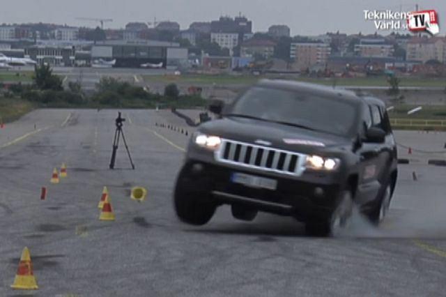 Jeep Grand Cherokee w ponownym teście łosia, tym razem obciążony zgodnie z zaleceniami inżynierów Jeepa