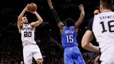 San Antonio Spurs - Oklahoma City Thunder. Rzuca Manu Ginobili