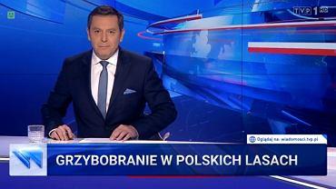 Materiał 'Wiadomości' o grzybach i Platformie Obywatelskiej z 29 września 2019 roku
