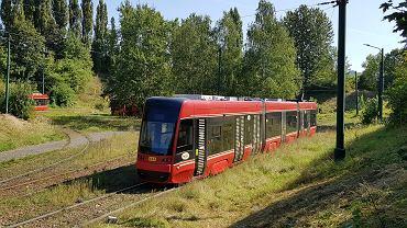 Pętla tramwajowa w Sosnowcu Zagórzu. Od tego miejsca - pod nowym wiaduktem w ciągu ul. Braci Mieroszewskich - nowa linia zostanie doprowadzona do ronda Jana Pawła II