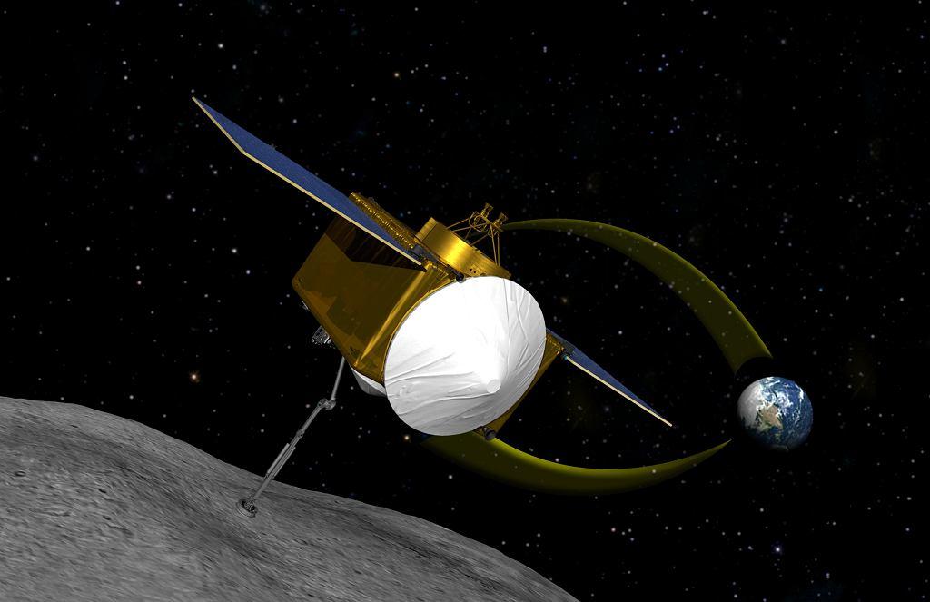 Sonda OSIRIS-REx doleciała do asteroidy Bennu (Fot. Projekt sondy kosmicznej)