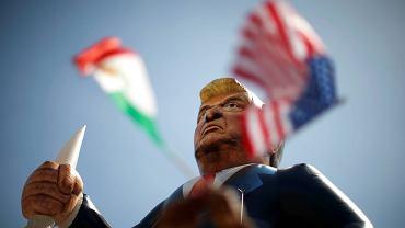 Kukła Donalda Trumpa stworzona przez jego przeciwników