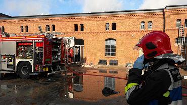 Akcja strażaków w budynku Kuźni Społecznej