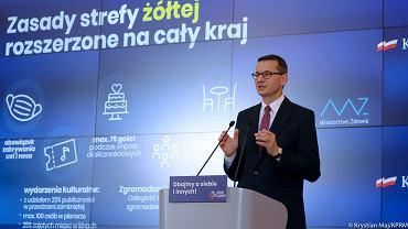 Konferencja premiera Morawieckiego ws. nowych obostrzeń