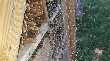 Na terenie gminy Porąbka doszło do kolejnych aktów wandalizmu. Zniszczono m.in. hotel dla owadów