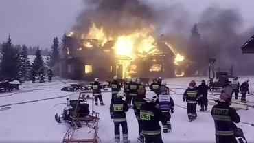Pożar starego schroniska na Hali Miziowej