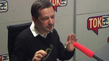 Jan Wróbel w studiu radia TOK FM