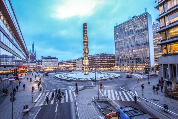 Nowoczesna dzielnica Sztokholmu