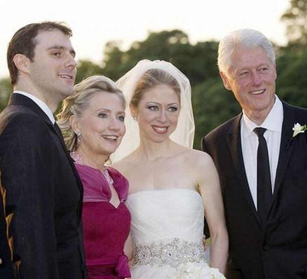 Chelsea Clinton, Bill Clinton, Hillary Clinton, Mark Mezvinsky
