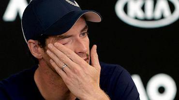 Andy Murray ociera łzy. Na tej konferencji prasowej poinformował, że zakończy karierę w tym roku