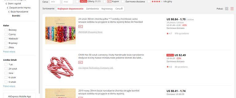 Świąteczne zakupy na AliExpress nie dotrą jeśli będziecie z nimi zwlekać