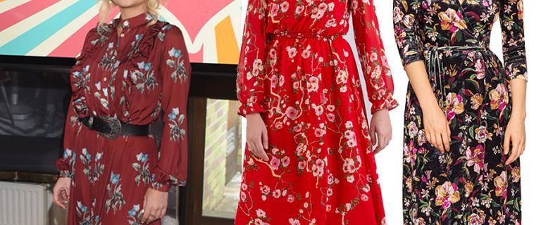 Sukienki w kwiaty, które zachwycają zimą