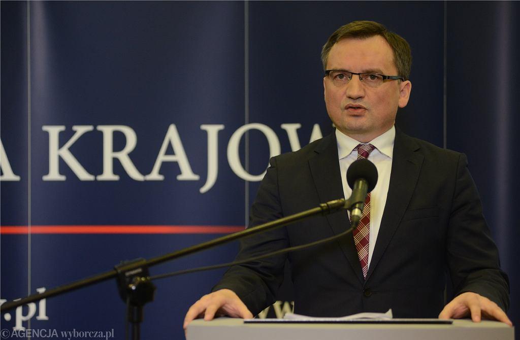 )Konferencja Ziobry ws ataku na Adamowicza