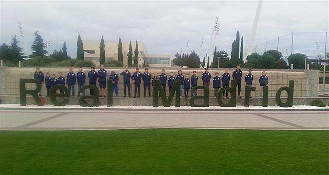 Dzieci z Fundacji Realu Madryt podczas wizyty w stolicy Hiszpanii