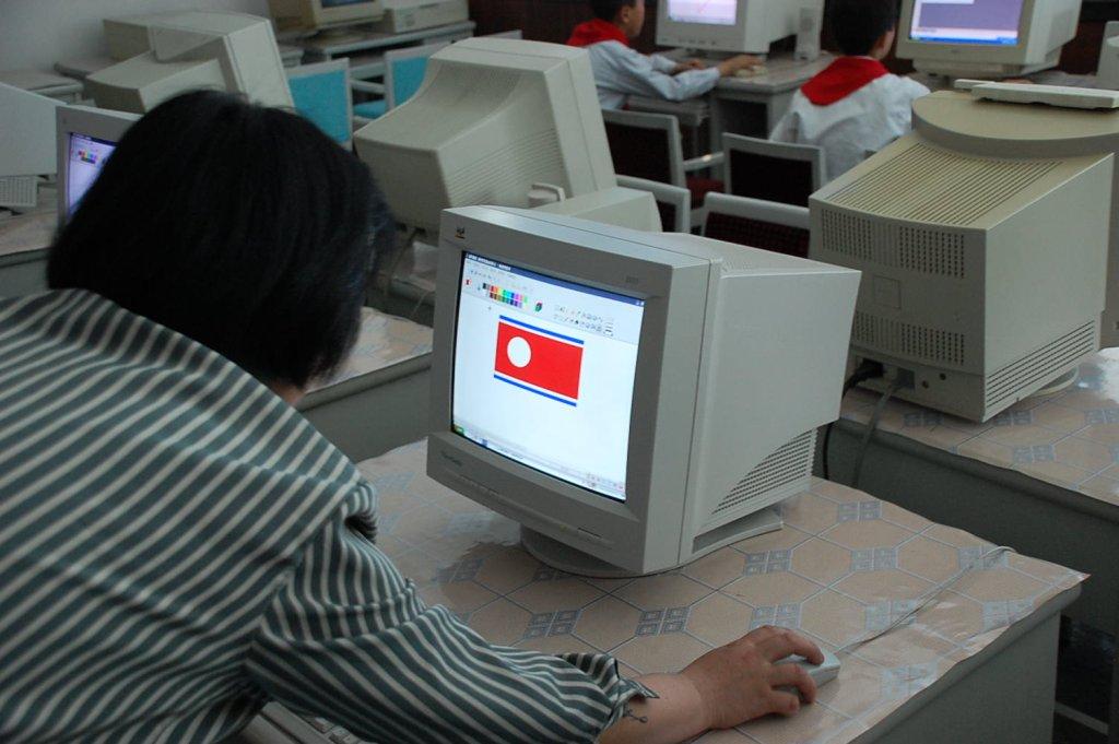 Lekcja informatyki w Korei Płn.