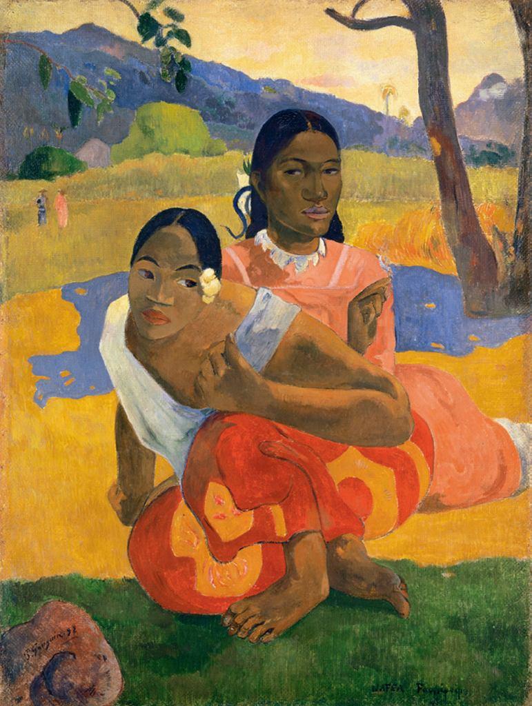 Ok. 300 mln dol.: Paul Gauguin (1848-1903) - Nafea Faa Ipoipo (Kiedy wyjdziesz za mąż?), 1892. Gauguin odbył dwie podróże na Tahiti. W obrazach tam malowanych pokazał krainę miłości i szczęścia, co niewiele miało wspólnego z rzeczywistością.