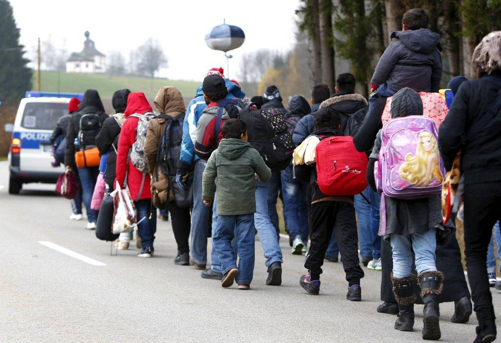 Uchodźcy na granicy austriacko-niemieckiej