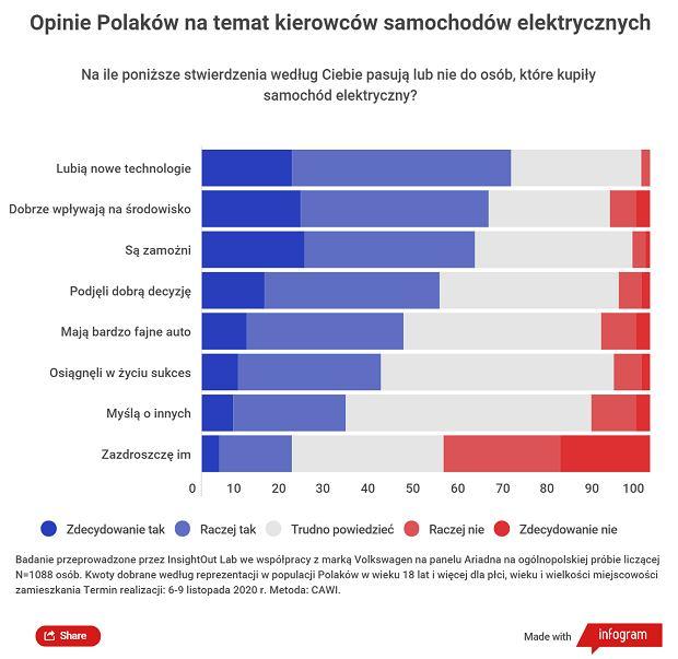 Co Polacy sądzą o kierowcach samochodów elektrycznych