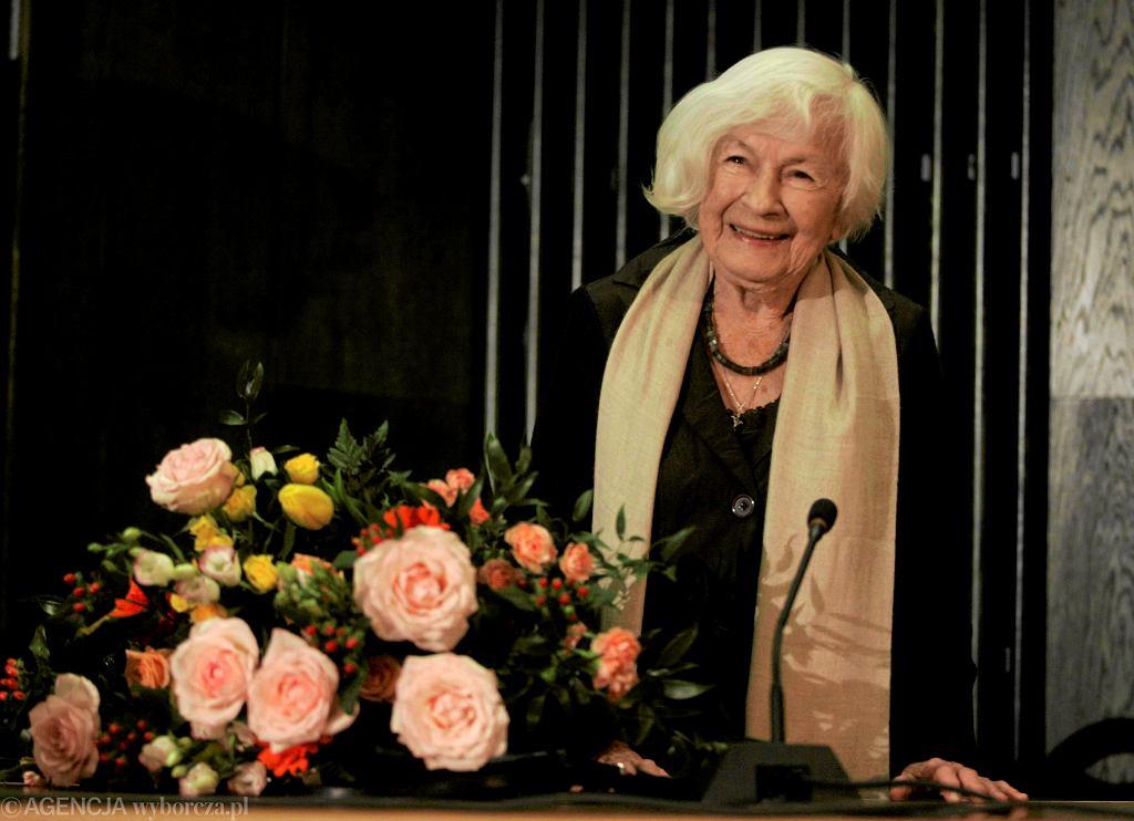 Danuta Szaflarska podczas uroczystości z okazji swoich 95. urodzin