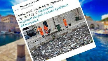 Dubrownik (Chorwacja) tonie w śmieciach