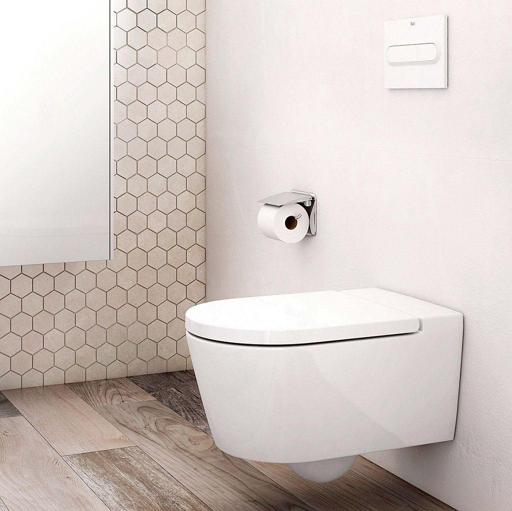 RIMLESS, toaleta bezkołnierzowa, podwieszana, ceramika, około 827 zł, Roca