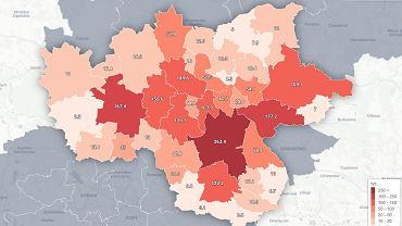 Prognozowana liczba ludności w gminach Górnośląsko-Zagłębiowskiej Metropolii w 2030 roku