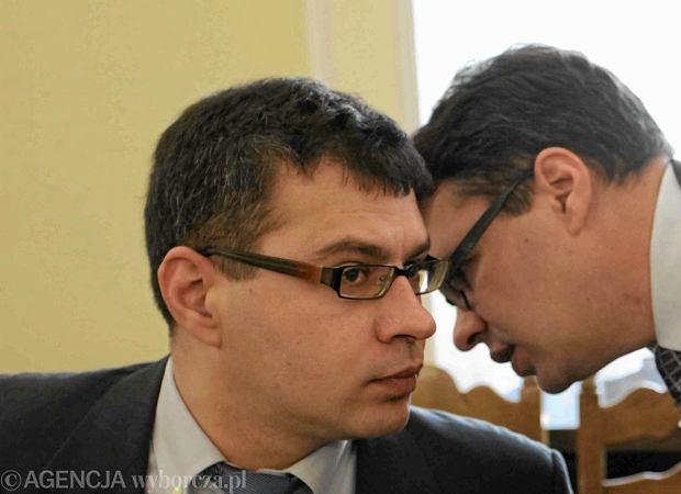 Jacek Karnowski (z lewej) i Michal Karnowski (z prawej) z tygodnika