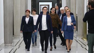 Nowoczesna ogłasza swoje przystapienie do koalicji PO - KO w nadchodzących wyborach do Parlamentu Europejskiego. Warszawa, Sejm, 22 lutego 2019