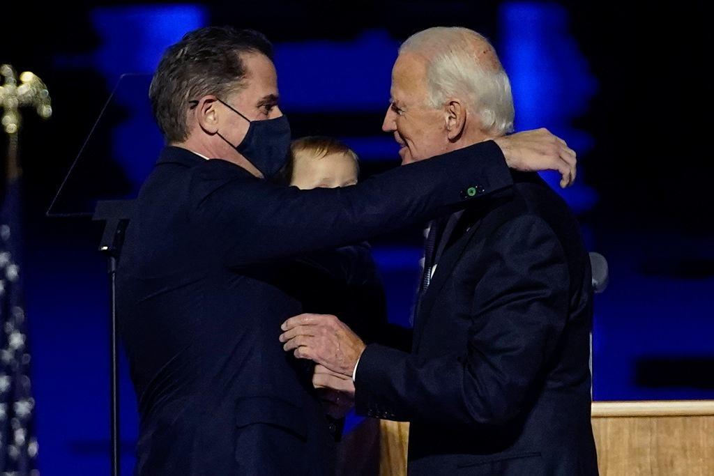 Hunter Biden wraz z ojcem
