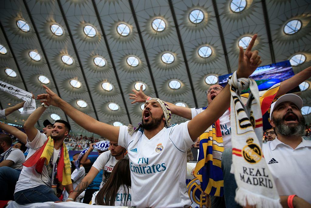 Kibice Realu Madryt na stadionie w Kijowie