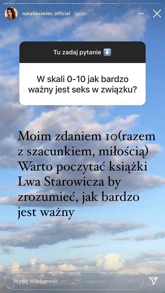 Screen z InstaStories Natalii Siwiec