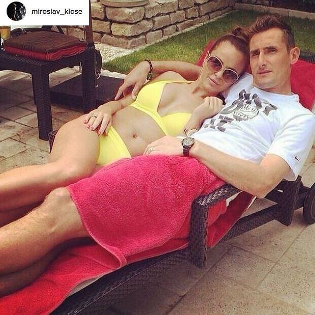Miroslav Klose z żoną Sylwią