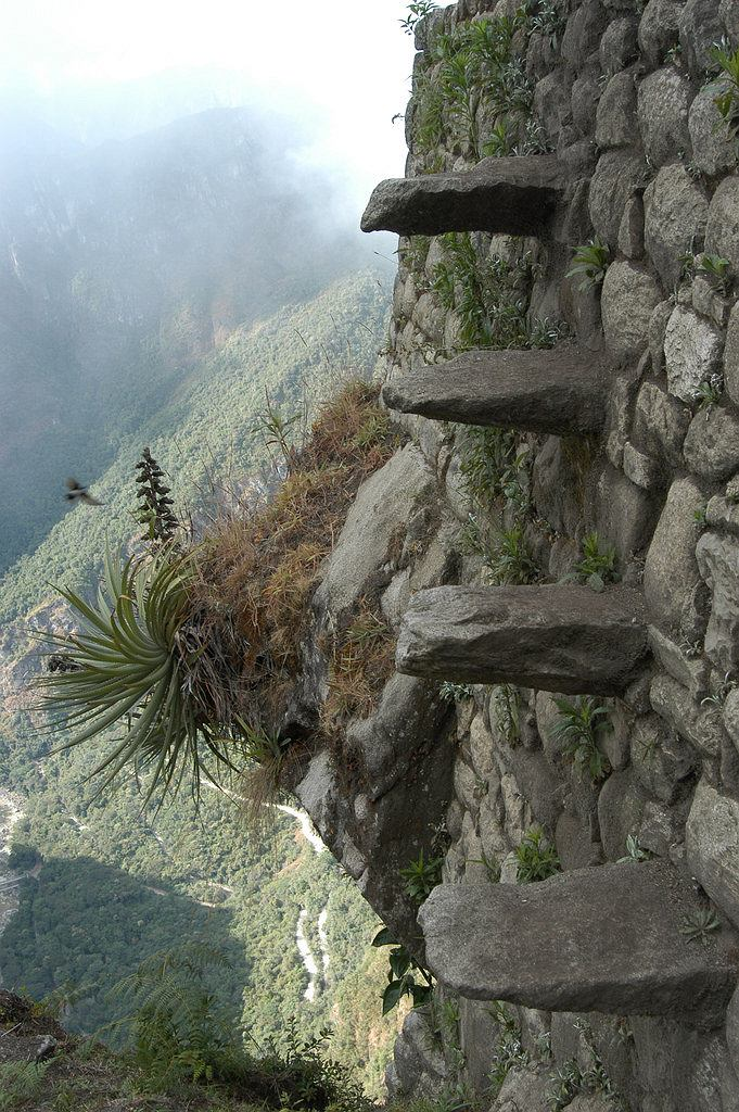 Schody śmierci na Huayna Picchu