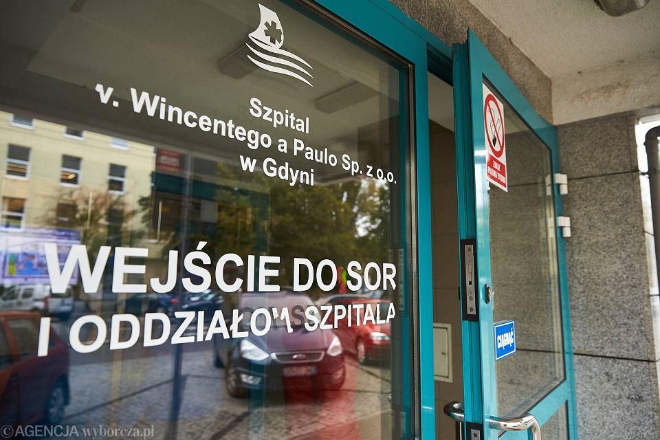 Odział ratunkowy, szpital św. Wincentego a Paulo w Gdyni.