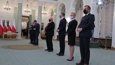 Rekonstrukcja rządu w Pałacu Prezydenckim w Warszawie