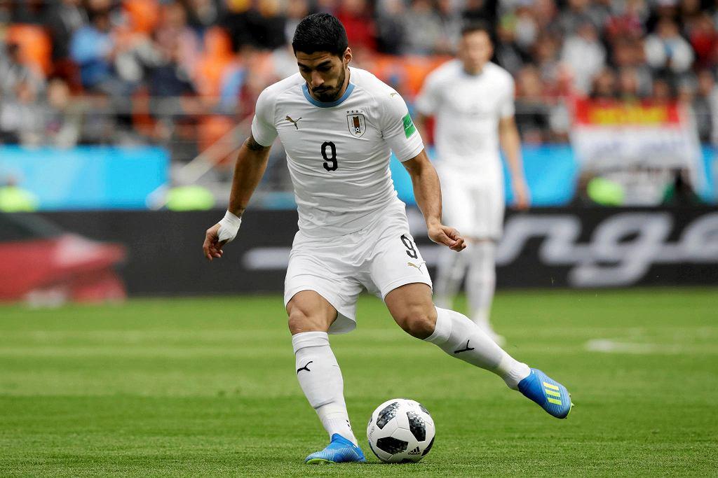 MŚ 2018. Luis Suarez podczas meczu Urugwaj - Egipt