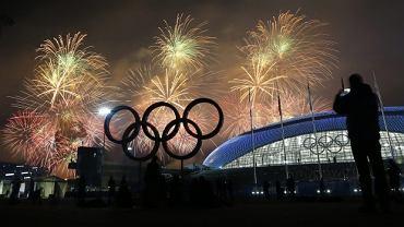 Fajerwerki podczas ceremonii zamknięcia Igrzysk w Soczi