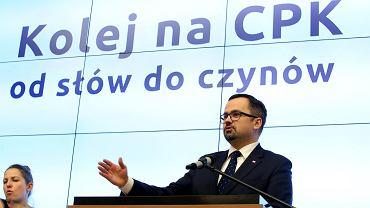 Marcin Horała (PiS), rządowy pełnomocnik ds. budowy Centralnego Portu Komunikacyjnego