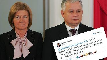 Lech i Maria Kaczyńscy i feralny tweet Stanisława Piety